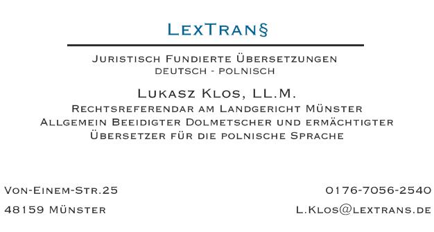 übersetzung von polnisch auf deutsch